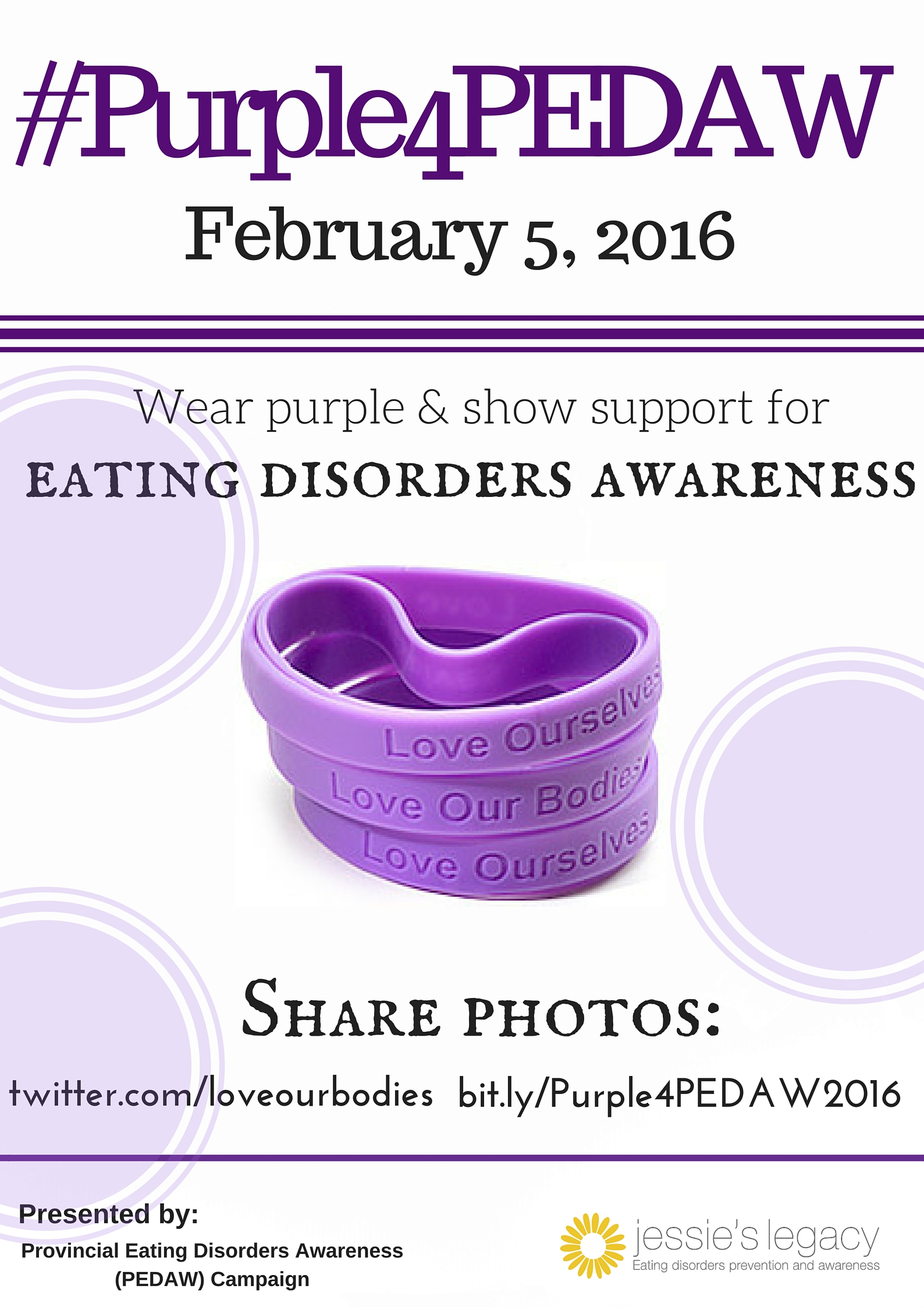 the need for awareness on eating disorders An informational guide about eating disorders and how they can effect people   individuals suffering from anorexia nervosa have a fear of gaining weight or.